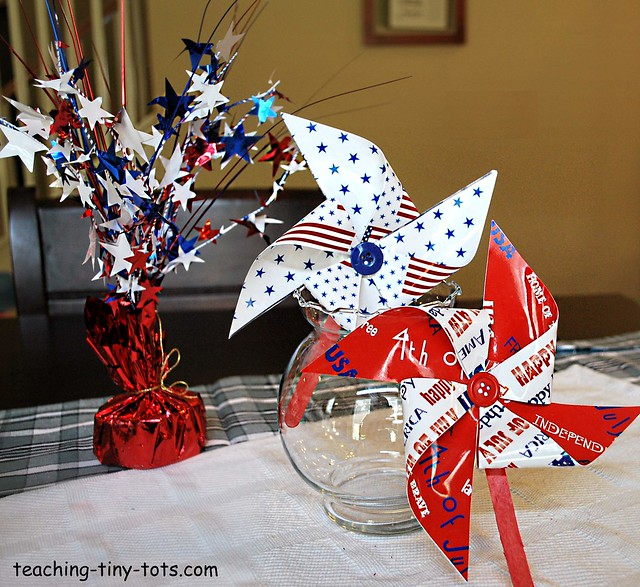 4th of July Decorations Patriotic Pinwheels