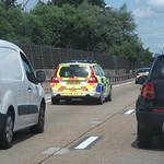 GX09NCD Surrey Police Volvo V70 T6 heading Clockwise on the M25