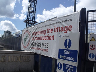 Library of Birmingham - Cambridge Street - hoadings - Considerate Constructors banner