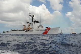 Coast Guard Cutter Resolute joins oil spill response