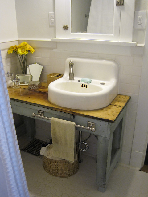 Welcome Home Custom Bathroom Vanity Made With Salvage Pieces