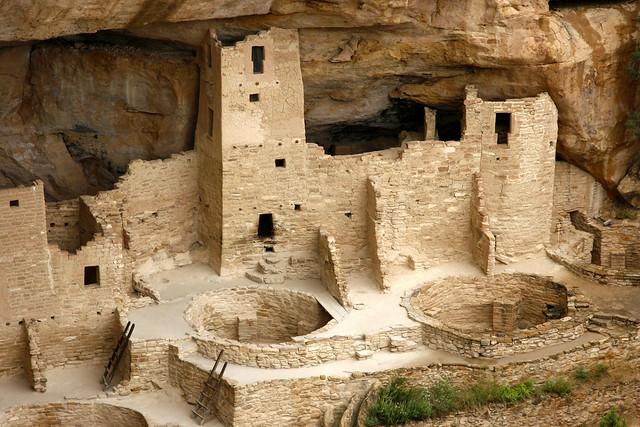 Cliff Palace. Parque nacional Mesa Verde. Colorado