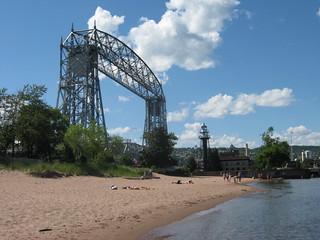 Lift Bridge & Sunbathers