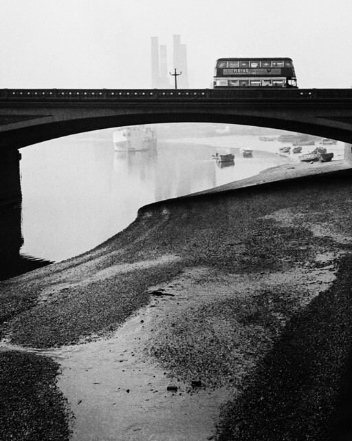 Bus on Battersea Bridge, by Bill Brandt 1940s