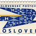 Czechoslovakia postage stamp: blue bird