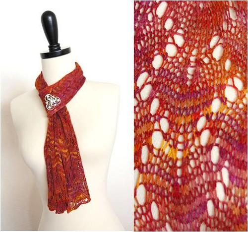 bamboo scarf-a new Fickleknitter pattern