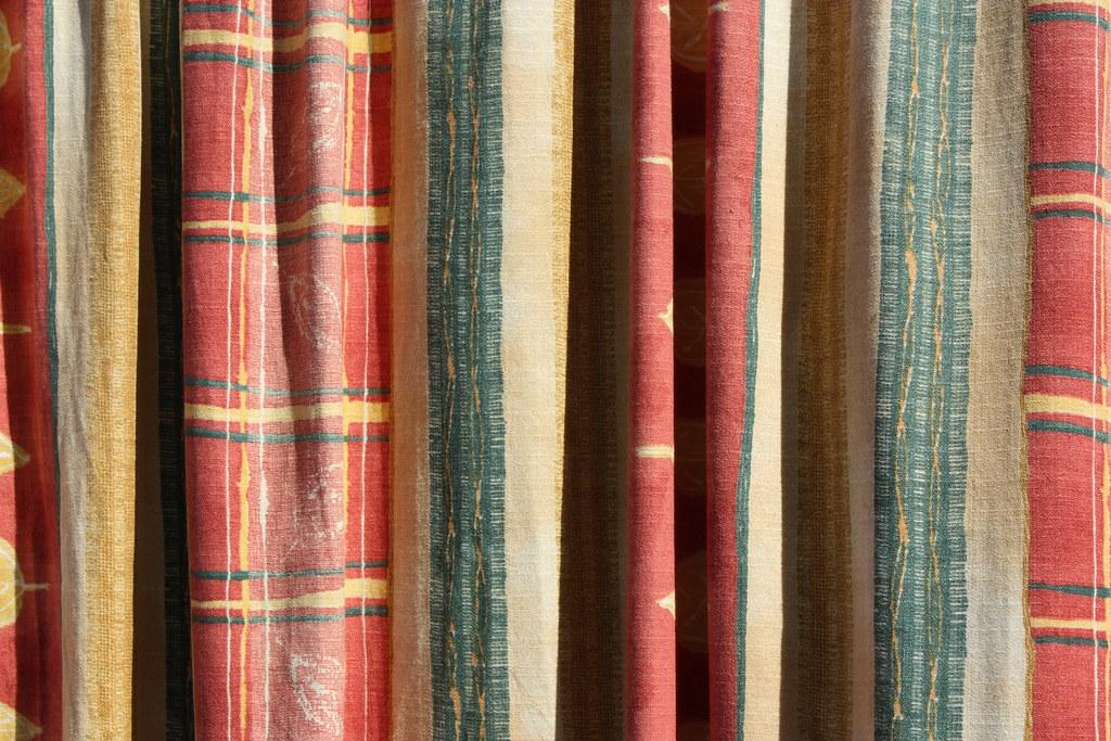 Texture 11: Faded colourful door drape