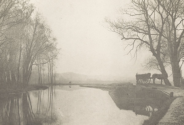 The Lea Near Hoddesdon, Plate XII, by Peter Henry Emerson 1888