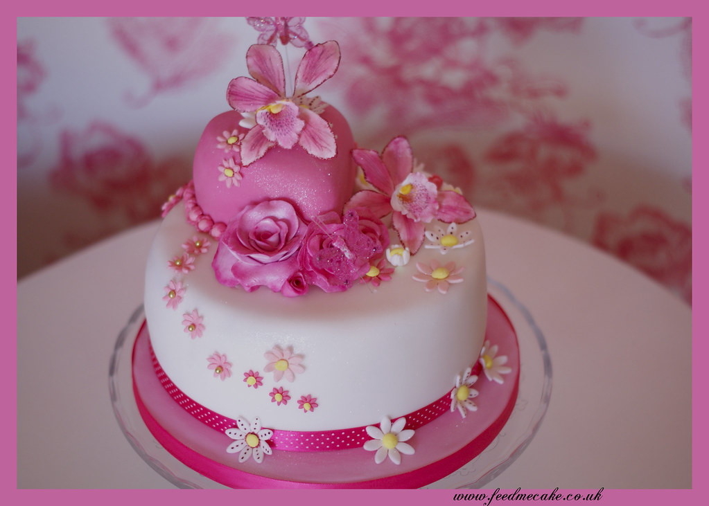 Sugarcraft Orchid Birthday Cakes