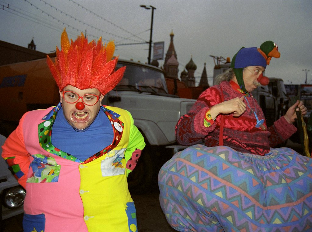 JJ & Patch 1(John Glick/Russia Clown Trip 2004)