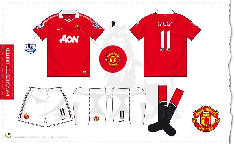 8d2830412 Manchester United home kit 2010 2011