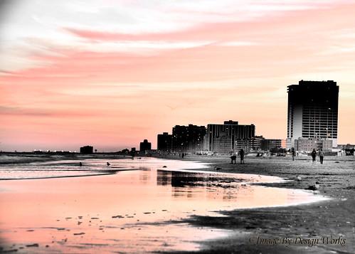 ocean beach sunrisesunset hdr imagebydesignworks atlanticcitynjnewjersey
