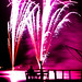 Fireworks with spectator on the dock by brookscl