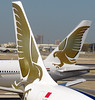 Gulf Air B777 vs. A330 - A meeting of the tails