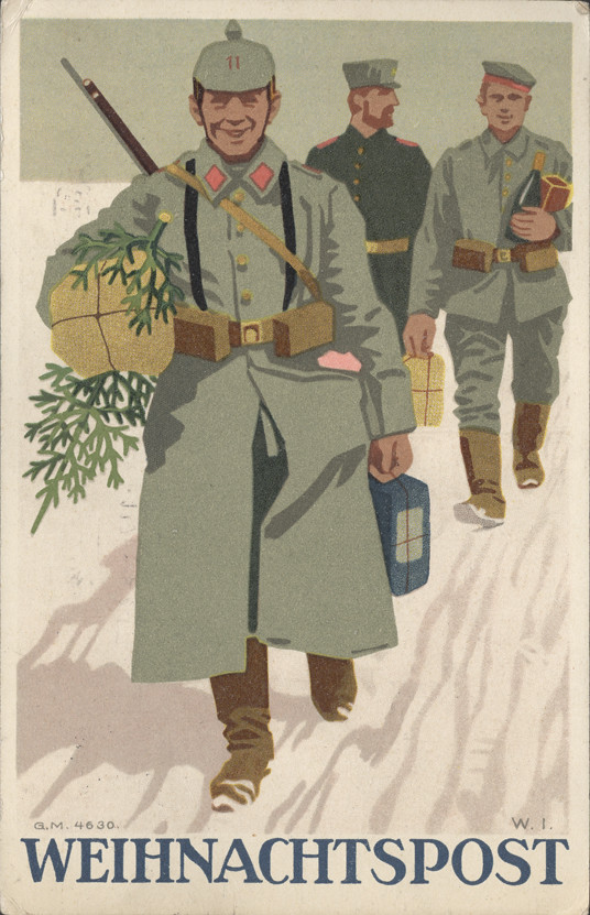 World War I German Weihnachtspost (Christmas Post) Post Card