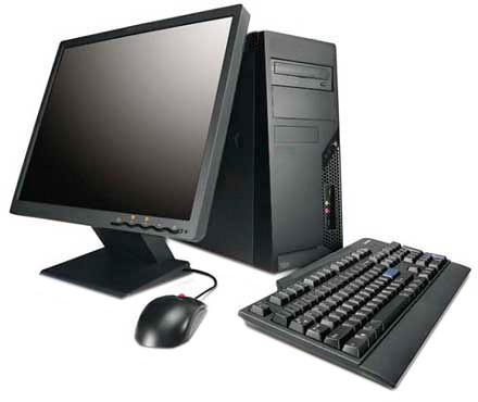 desktop PC in black