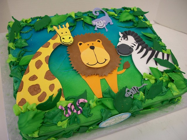 Jungle Theme Sheet Cake Images http://www.flickr.com/photos/vanlatte/4807896500/