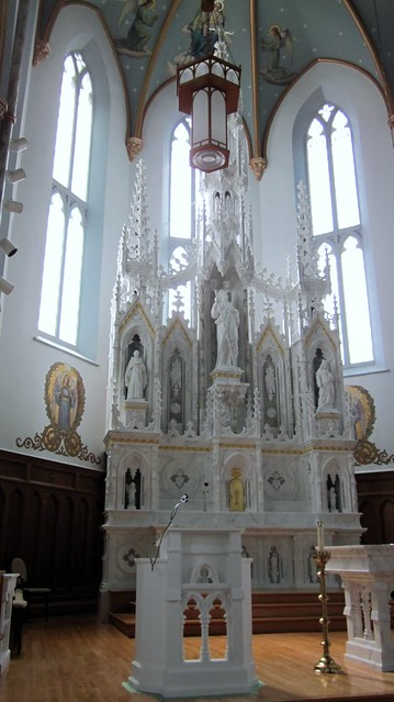 The sanctuary of St. Andrew's Church, St. Andrew's West, Ontario