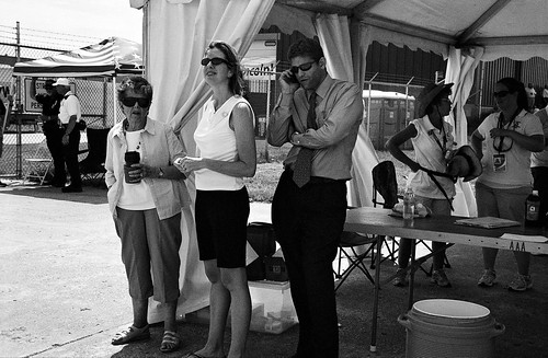 Credentials Tent, Special Olympics Citation Airlift, July, 2010