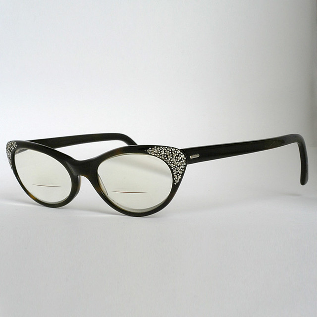 Cat Eye Rhinestone Eyeglass Frames :