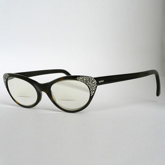 quot liberty quot cat eye eyeglass frames with rhinestone studded