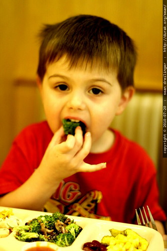 some kids actually eat raw broccoli