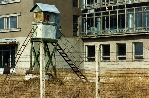 Nuclear Submarine facility guard tower,Paldiski, Estonia  May 1996 by sludgegulper