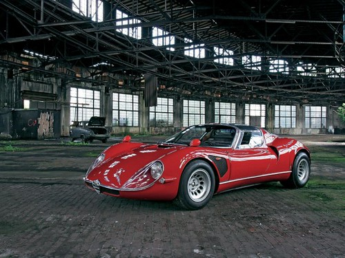 alfa-romeo-33-stradale-front-side-view by www.MyCarHeaven.com