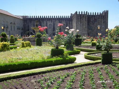 Braga Portugal jardín Santa Bárbara y muralla