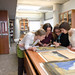 Archivists working on historical document
