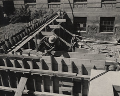Construction of the Sterling Hall addition
