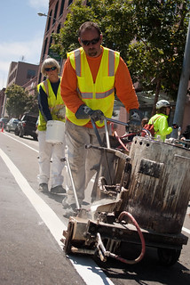 12381 Second line of new bike lane on Townsend complete | by sfbike