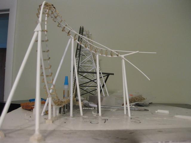 theme park review � vekoma boomerang ho scale model