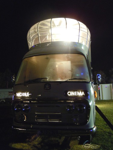 its a mobile cinema, Vintage Festival, Goodwood 2010