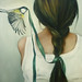 Green Ribbon by Amy Judd Art