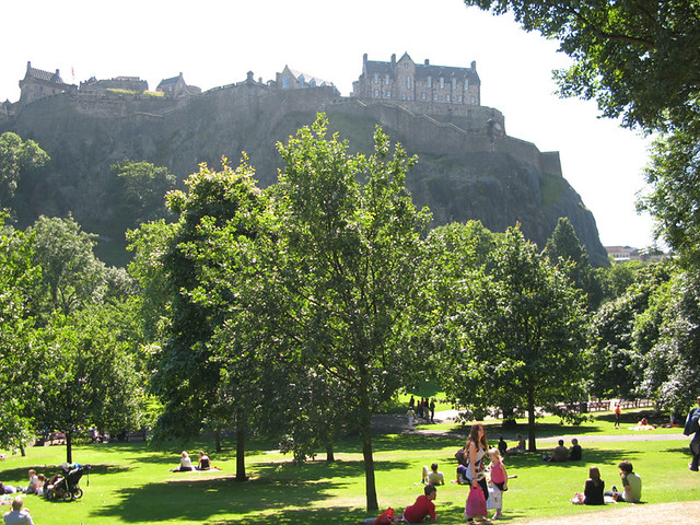 Edinburgh castle from Princes Street gardens | Emma Lamb