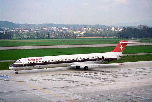 Swissair MD-81; HB-INV@ZRH;15.04.1995