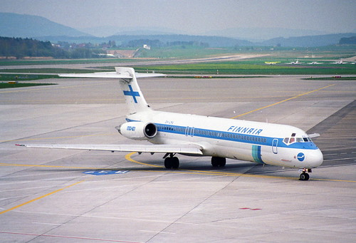Finnair MD-87; OH-LMA@ZRH;15.04.1995