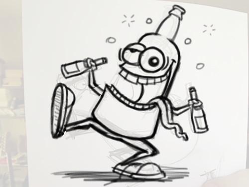 Cartoon Drunk People