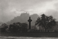 The Castle, Edinburgh, Scotland 1925, by E.O. Hoppe