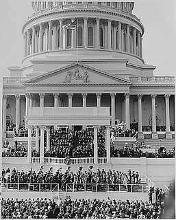 The inaugural stand in front of the Capitol Building, Washington, DC...01/20/1949.
