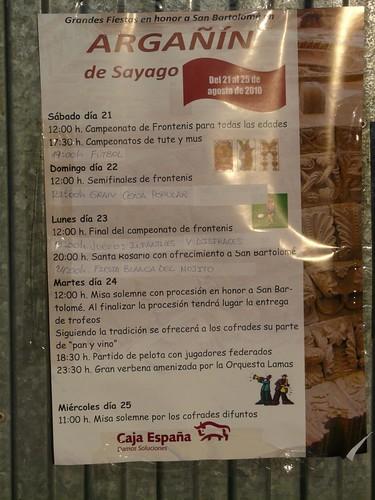 Argañín de Sayago, 2010