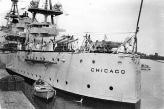 U.S. Navy ship, Chicago in Brisbane, March 1941