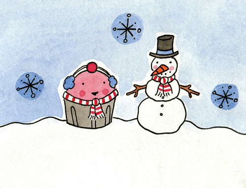 New Holiday card assortment--Cuppie and Snowman