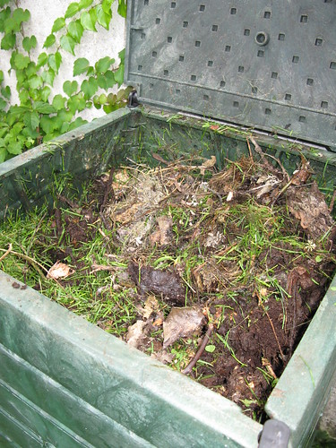 Full compost bin, after about 10 months of use