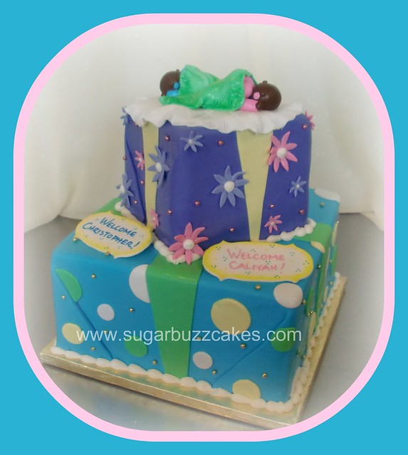 twins baby shower cake flickr photo sharing