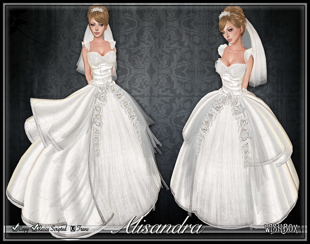 Alisandra Wedding Gown (White)