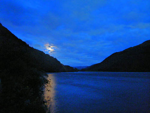 Moon Rises Over Loch Eck