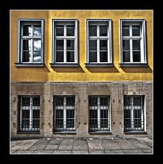 An unassuming facade in Dresden