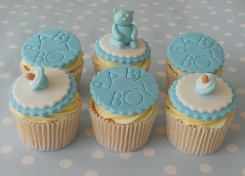 Baby Boy Cupcakes by More Than A Cake!
